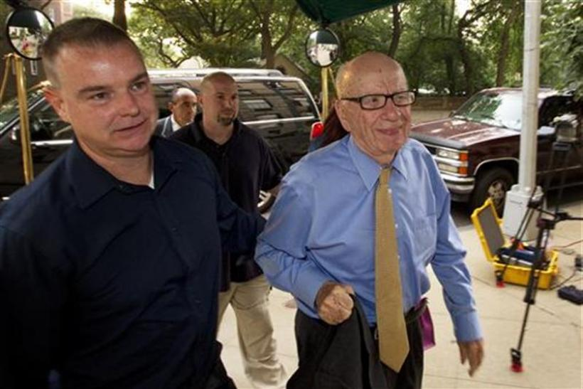 News Corporation Chairman and CEO Murdoch arrives at his home in New York