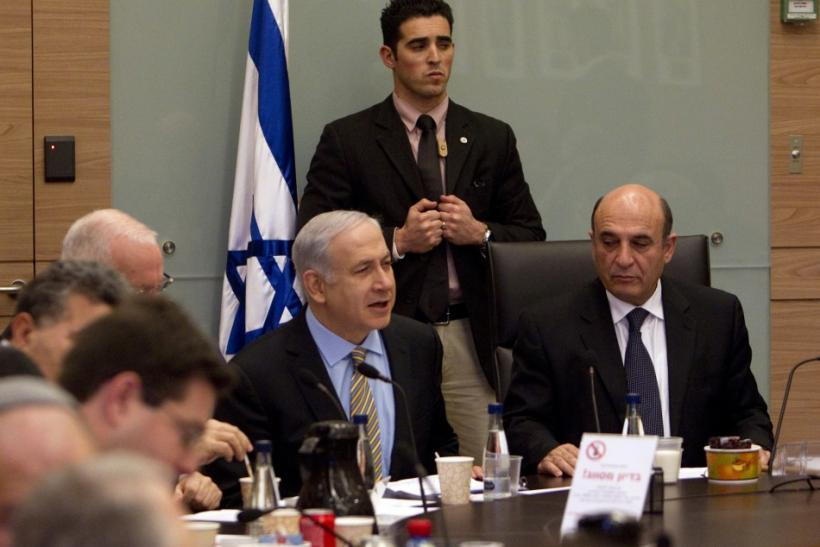 Israel's PM Netanyahu attends a Foreign Affairs and Defence Committee meeting at the Knesset in Jerusalem