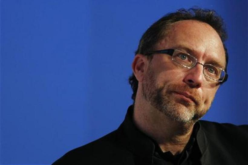 Wikipedia founder Jimmy Wales, attends the eG8 forum in Paris