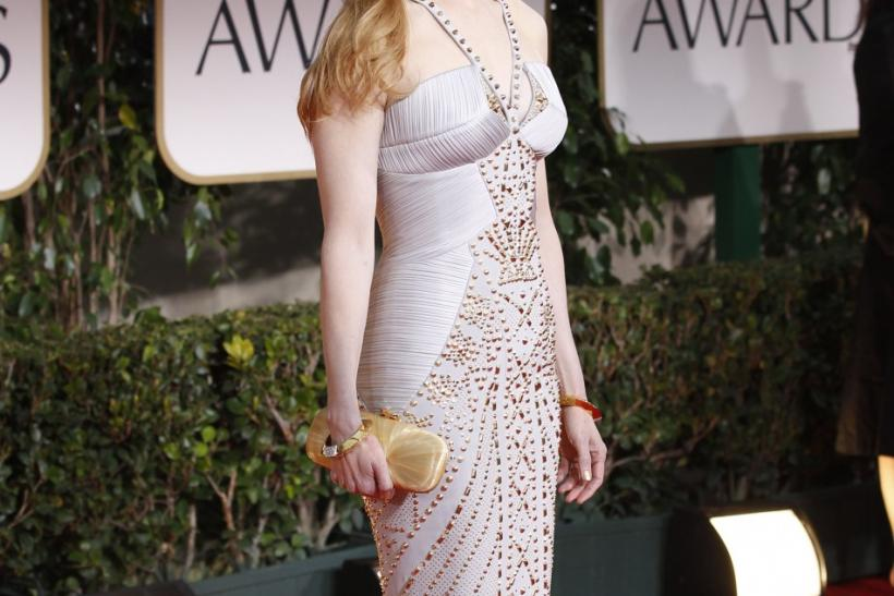 Actress Nicole Kidman arrives at the 69th annual Golden Globe Awards in Beverly Hills, California