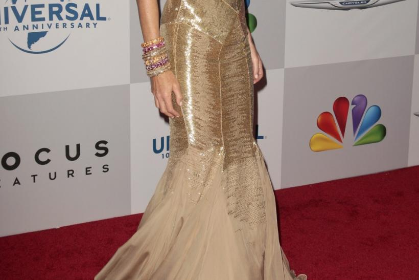 Model Elle Macpherson arrives at the NBC Universal after party after the 69th annual Golden Globe Awards in Beverly Hills, California