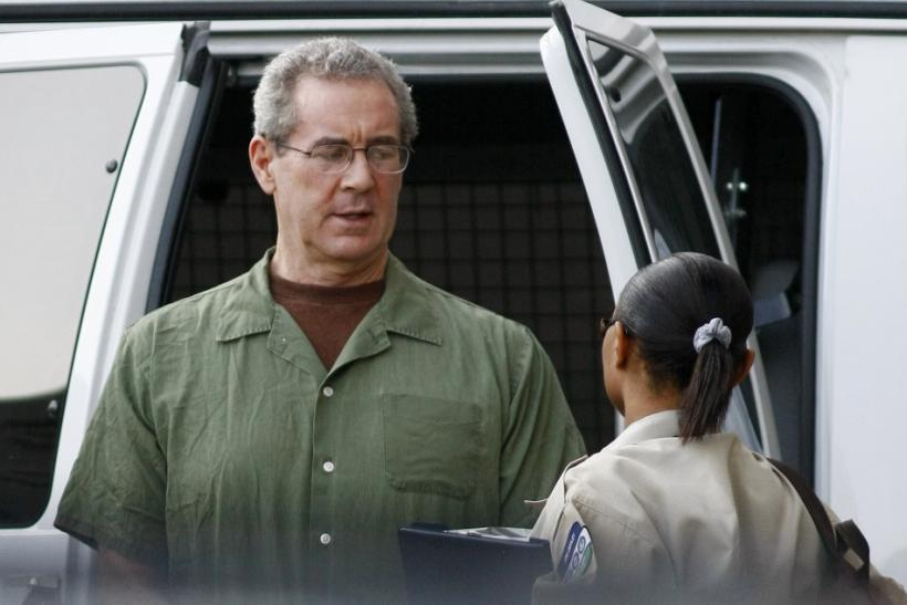 R. Allen Stanford arrives at federal court for a hearing before U.S. District Judge Nancy Atlas in Houston August 24, 2010.