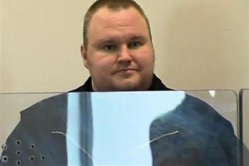 Megaupload founder Kim Dotcom appears in Auckland's North Shore District Court after his arrest in this still image taken from a January 20, 2012 video.