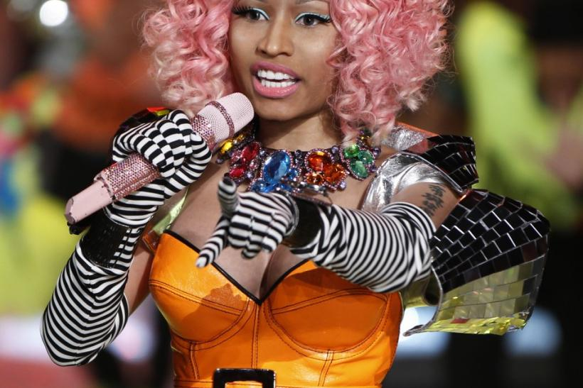 Singer Minaj performs during the Victoria's Secret Fashion Show at the Lexington Armory in New York