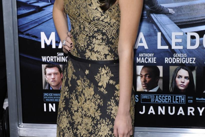 "Cast member Genesis Rodriguez attends the premiere of the film ""Man on a Ledge"" in Los Angeles"
