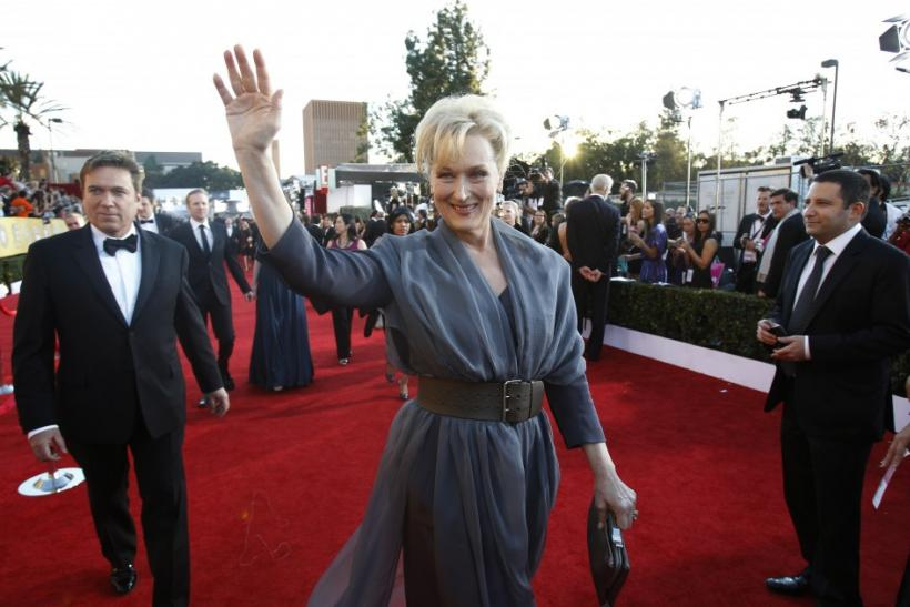 "Actress Meryl Streep from the film ""The Iron Lady"" arrives at the 18th annual Screen Actors Guild Awards in Los Angeles, California"