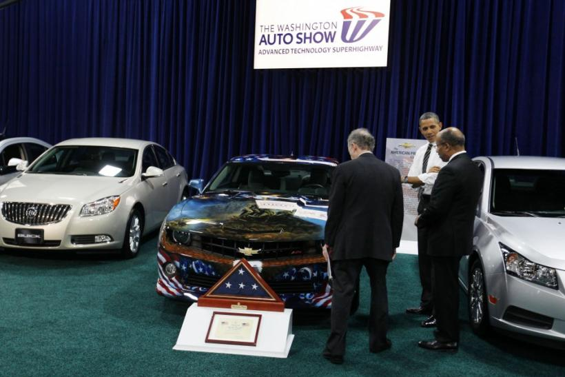 Barack Obama at the Washington Auto Show