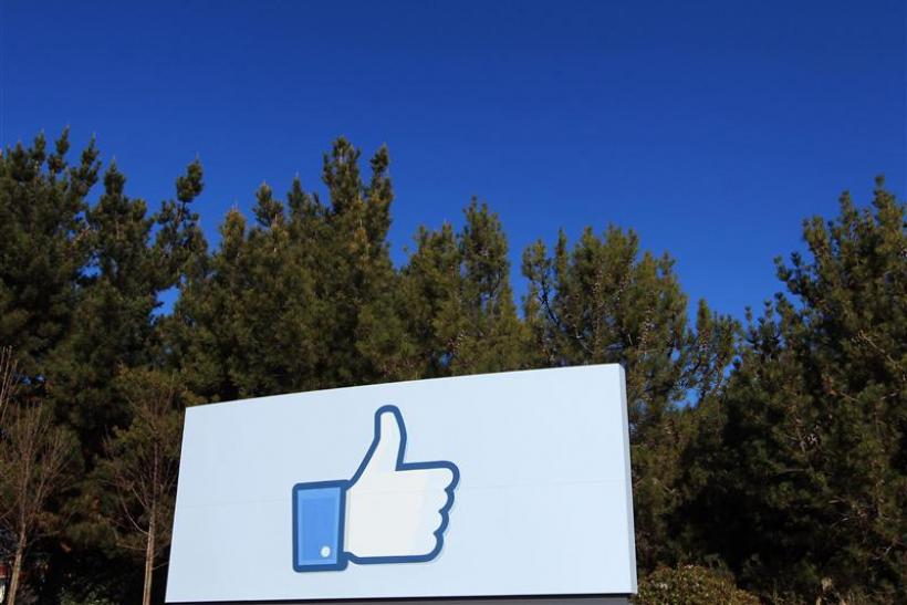 "File picture of a giant ""like"" icon made popular by Facebook is seen at the company's new headquarters in Menlo Park"