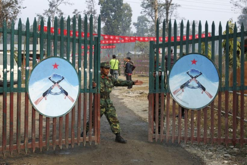 Gates to Maoist camp -- Shaktikhor