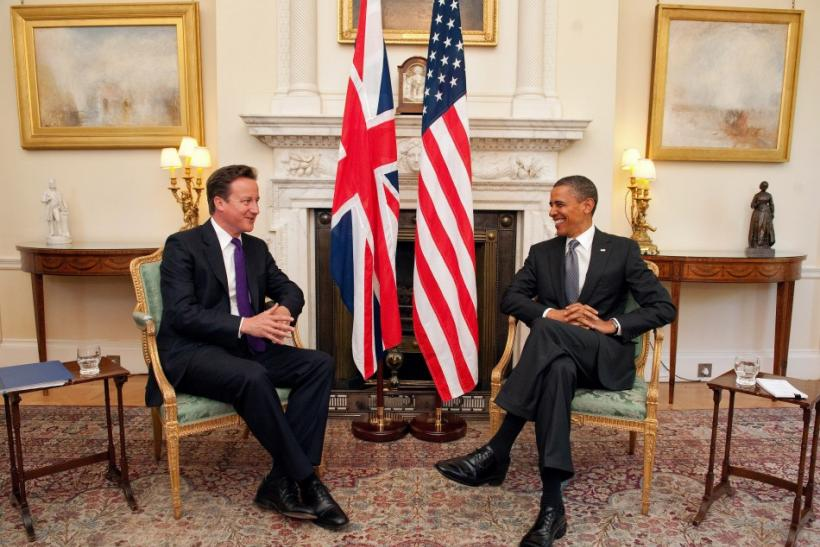 President Obama and British Prime Minister David Cameron During Obama's UK Visit in May