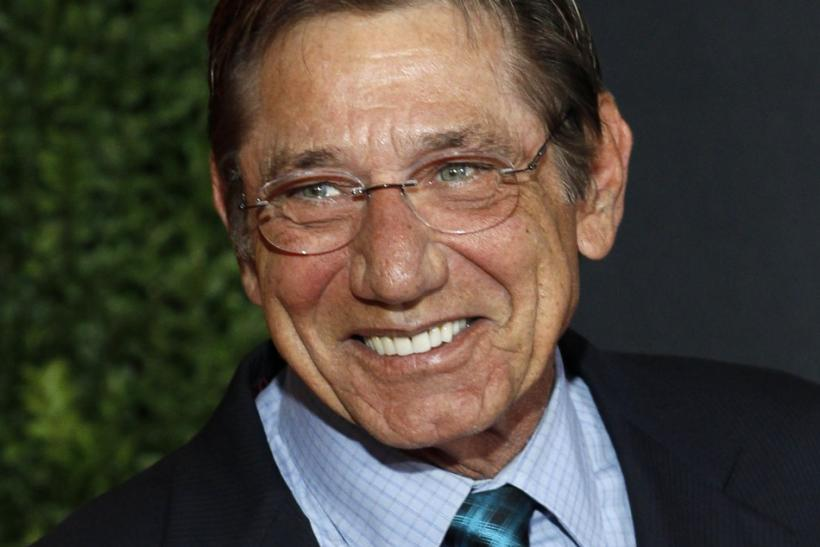 Hall of Fame quarterback Joe Namath arrives for the Inaugural National Football League Honors at Super Bowl XLVI in Indianapolis, Indiana