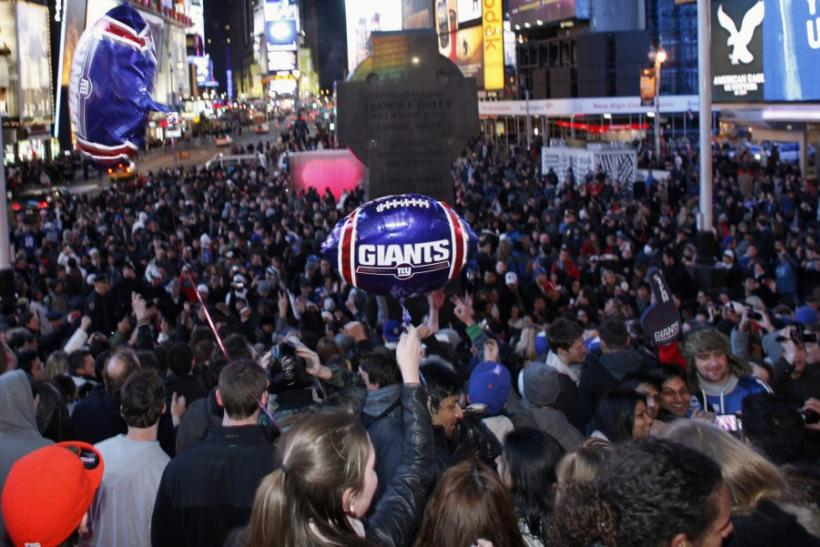 When Is Super Bowl Parade 2012? Celebrate Giants Victory In NYC