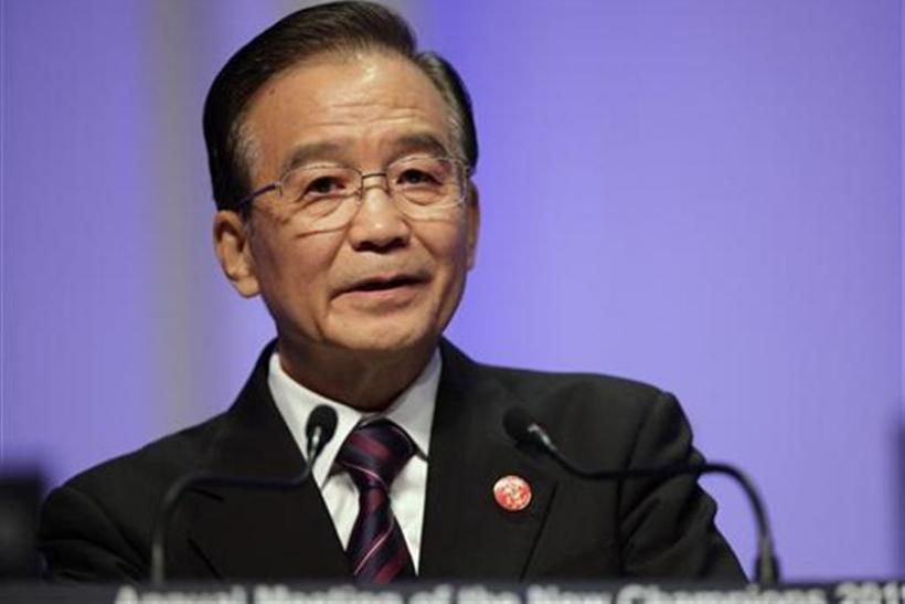 File photo shows China's Premier Wen Jiabao