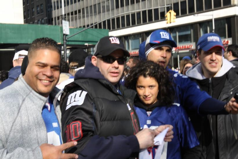 Fans Pose at the Parade