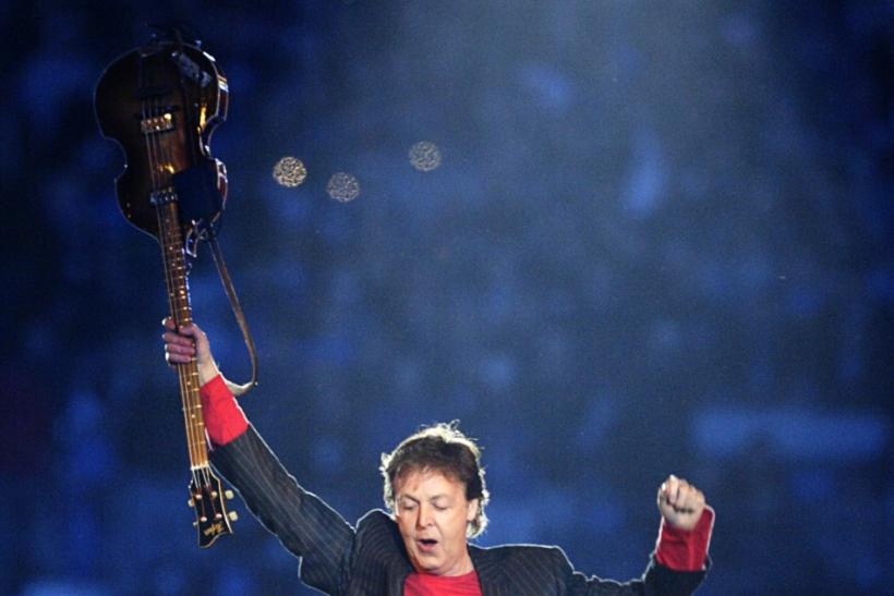 Paul McCartney performs during the Super Bowl XXXIX halftime show