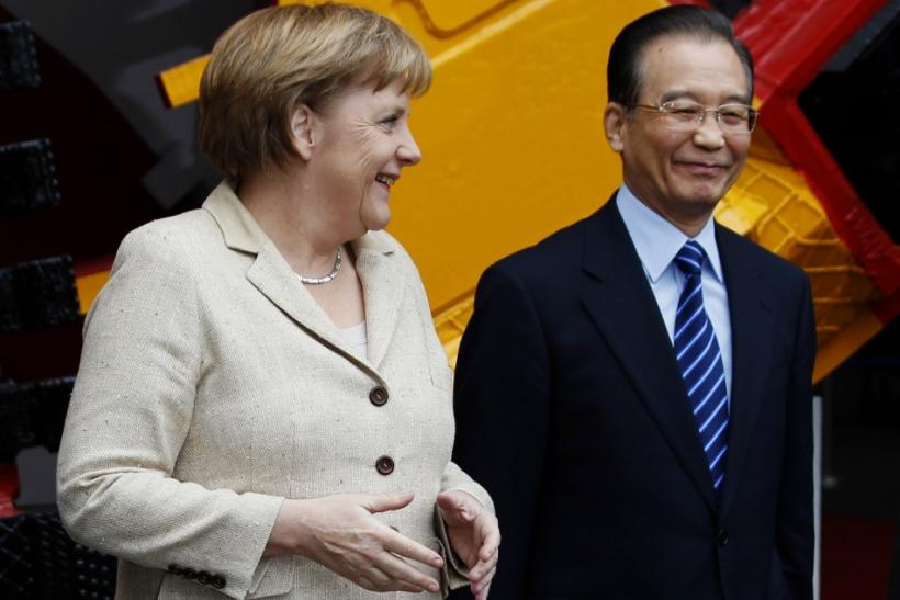 Angela Merkel and Chinese Premier Wen Jiabao