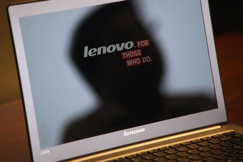 A Lenovo Ultrabook is displayed during Reuters China Investment Summit in Hong Kong