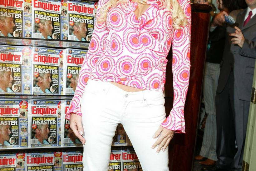 Anna Nicole Smith re-launches The National Enquirer Magazine.