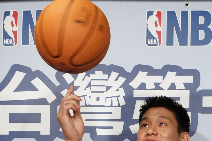 Jeremy Lin at a NBA event in Chinese Taipei.