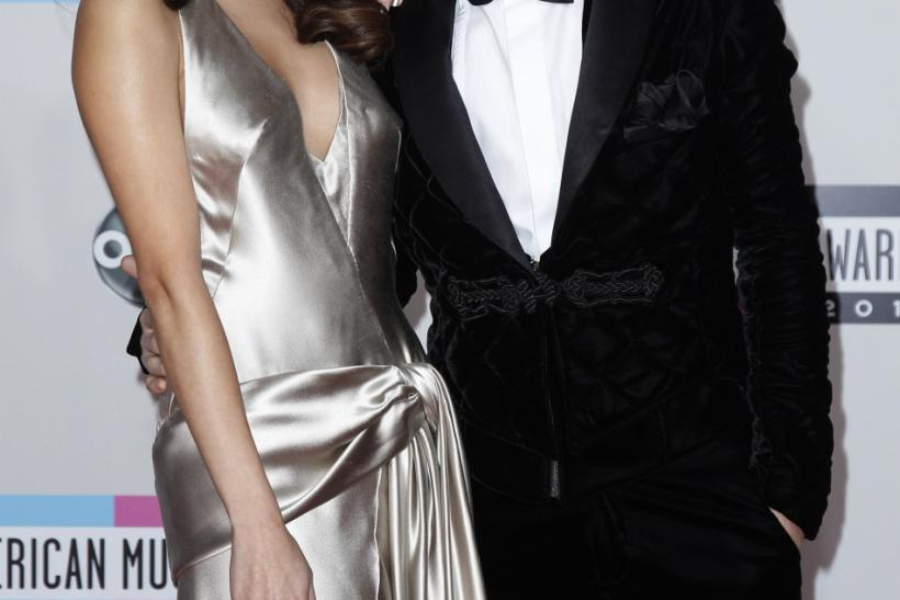 Justin Bieber and his girlfriend, singer Selena Gomez clearly in love at The 2011 American Music Awards in Los Angeles