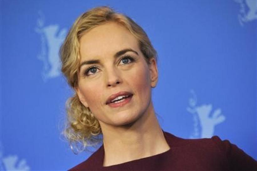 Cast members Nina Hoss poses for pictures during a photocall to promote the movie 'Barbara' at the 62nd Berlinale International Film Festival in Berlin
