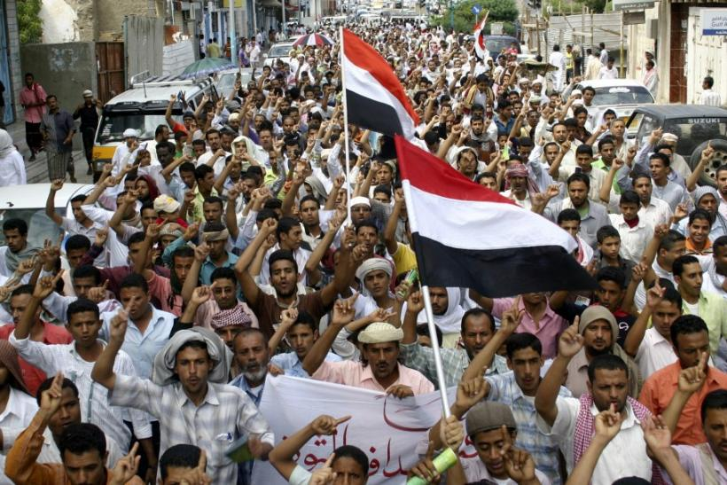 Yemen: Anti-government protesters march in the southern city of Aden.