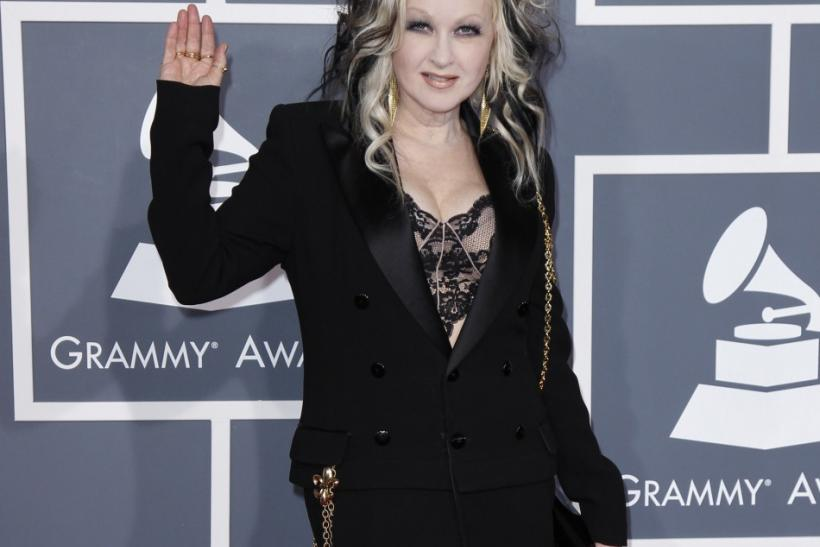 Singer Cyndi Lauper arrives at the 54th annual Grammy Awards in Los Angeles, California