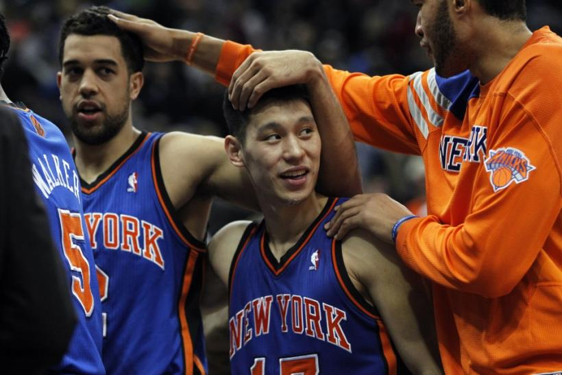 The Knicks have won five straight games with Lin at the point, and have re-entered the playoff picture in the Eastern Conference.