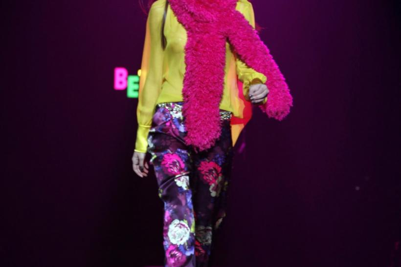 A model presents a creation at the Betsey Johnson New York Fall/Winter 2012 collection during New York Fashion Week February 13, 2012.