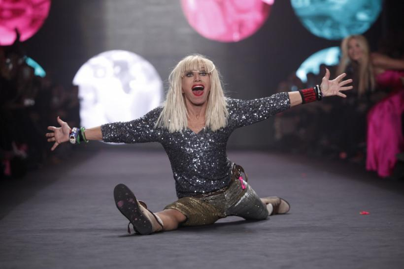 Designer Betsey Johnson is seen at her show during New York Fashion Week February 13, 2012.