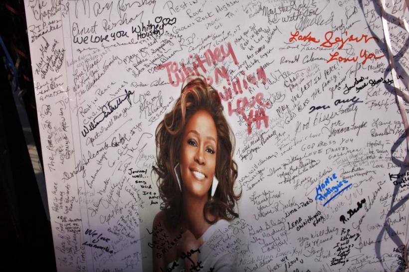 Whitney Houston Fan Memorial