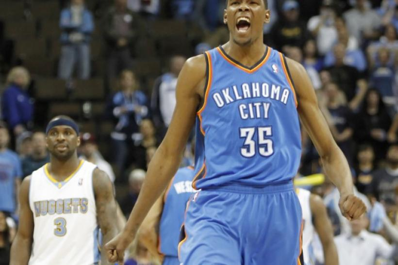 Kevin Durant: Thunder vs. Nuggets 2/19/12