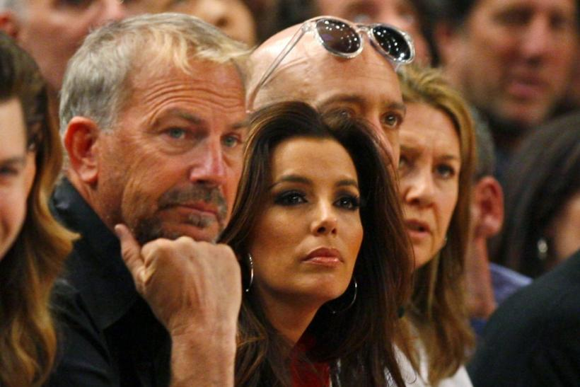 Actors Kevin Costner and Eva Longoria