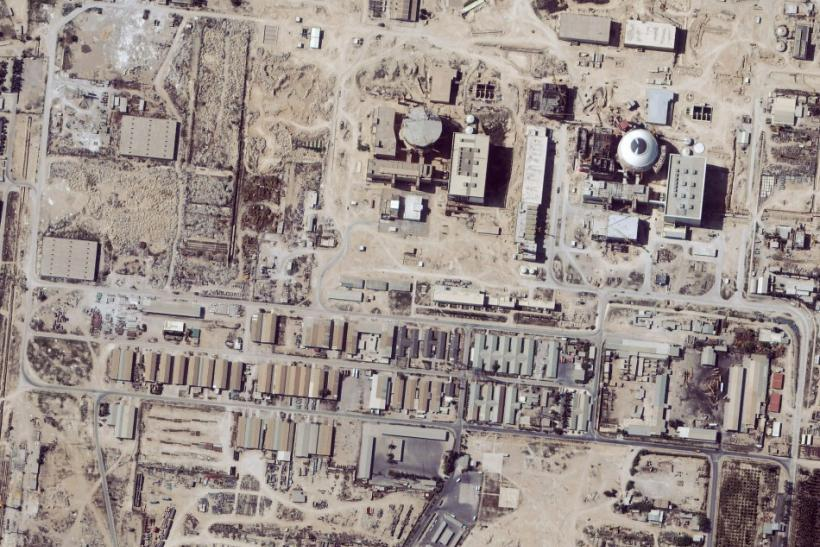 Satellite image shows the nuclear facility at Bushehr, Iran