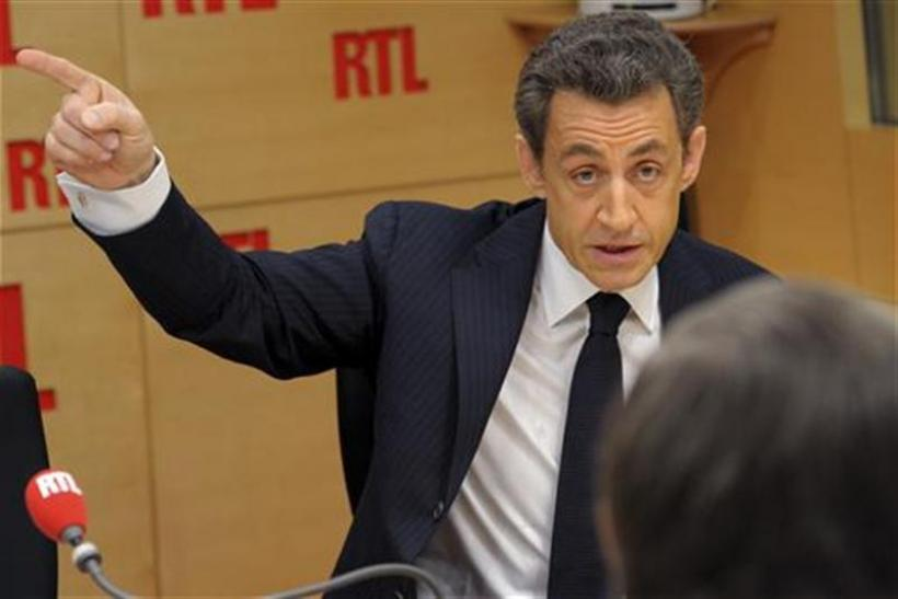 France's President and UMP party candidate for the 2012 French presidential elections Nicolas Sarkozy
