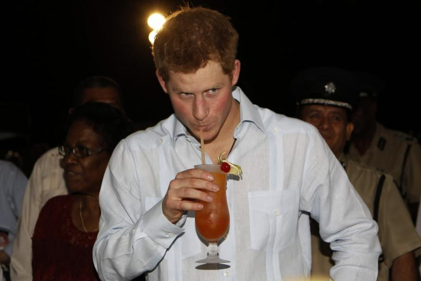 Prince Harry Takes a Drink