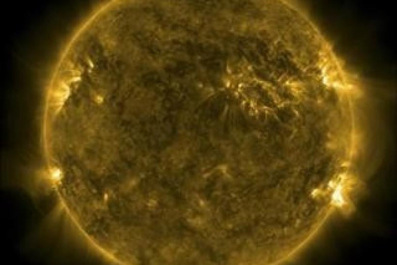 A handout picture shows the Sun as viewed by the Solar Dynamics Observatory on June 9, 2011.