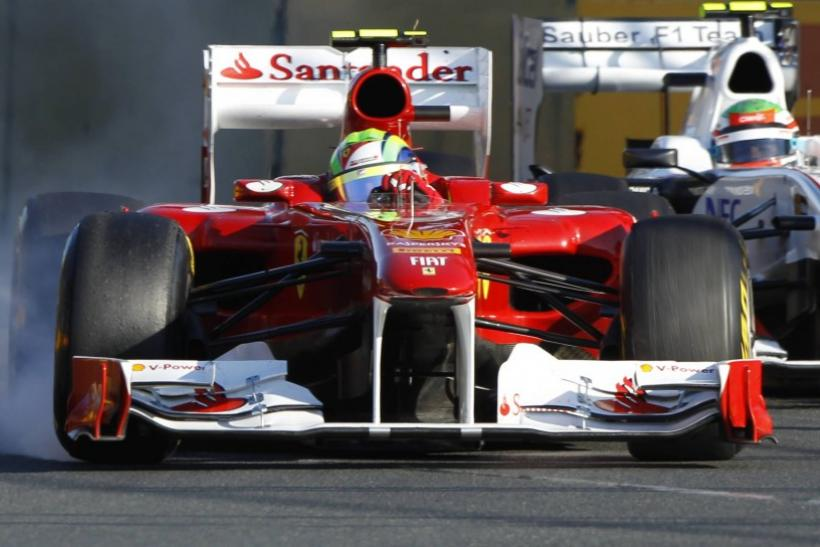 Ferrari Formula One driver Fernando Alonso of Spain drives during the Australian F1 Grand Prix at the Albert Park circuit in Melbourne
