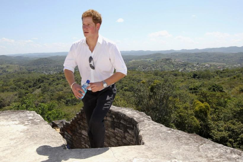Prince Harry visits Xunantunich Mayan Temple