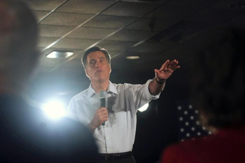 U.S. Republican presidential candidate Mitt Romney speaks at a town hall meeting at Gateway Convention Center in Collinsville, Illinois March 17, 2012