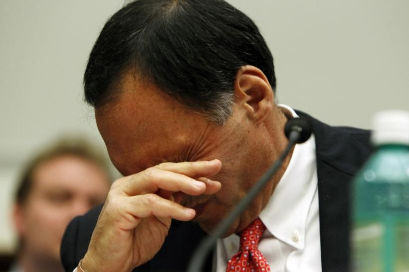 Picture of Richard Fuld, former chairman and CEO of Lehman Brothers, which collapsed months after a brief period of general optimism after the sale of Bear Stearns to JPMorgan Chase