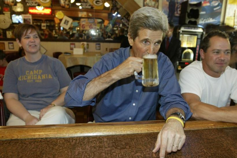 2004: Kerry Leans Into It