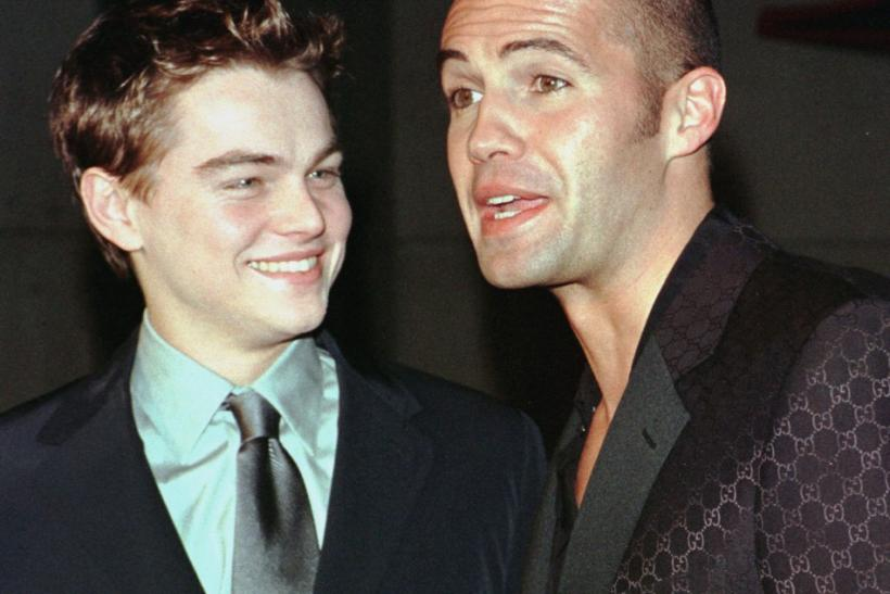 "Actors Leonardo DiCaprio (L) and Billy Zane pose as they arrive for the premiere of their new film ""Titanic"" December 14 at Mann's Chinese Theatre in Hollywood. ""Titanic"" directed and produced by James Cameron cost $200 million to prod"