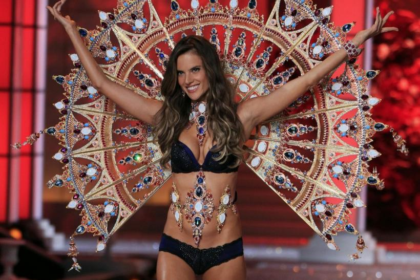 Alessandra Ambrosio presents a creation during the Victoria's Secret Fashion Show in New York