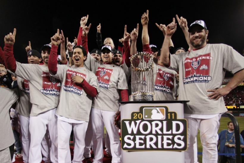 After winning the World Series last year, the Cardinals are 25/1 to repeat as champions.