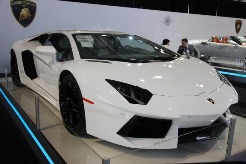A Lamborghini Aventador LP 700-4 at the New York International Auto Show 2012.