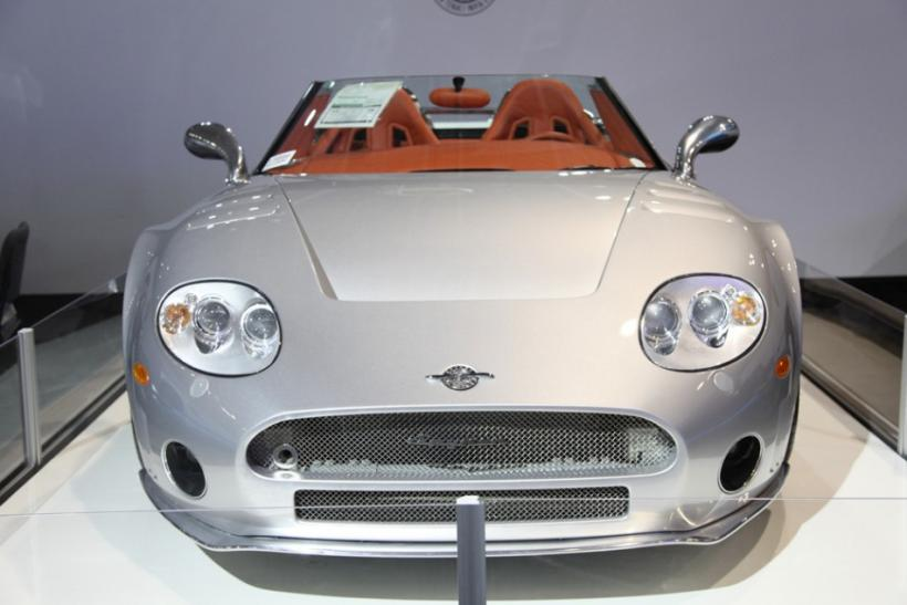 The front of the Spyker C8 SWB at the New York International Auto Show 2012.