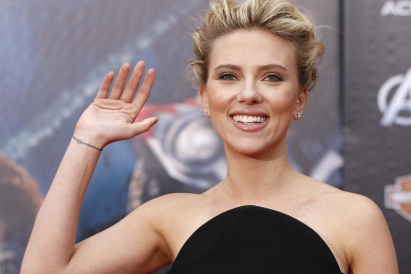 "Cast member Scarlett Johansson poses at the world premiere of the film ""Marvel's The Avengers"" in Hollywood"