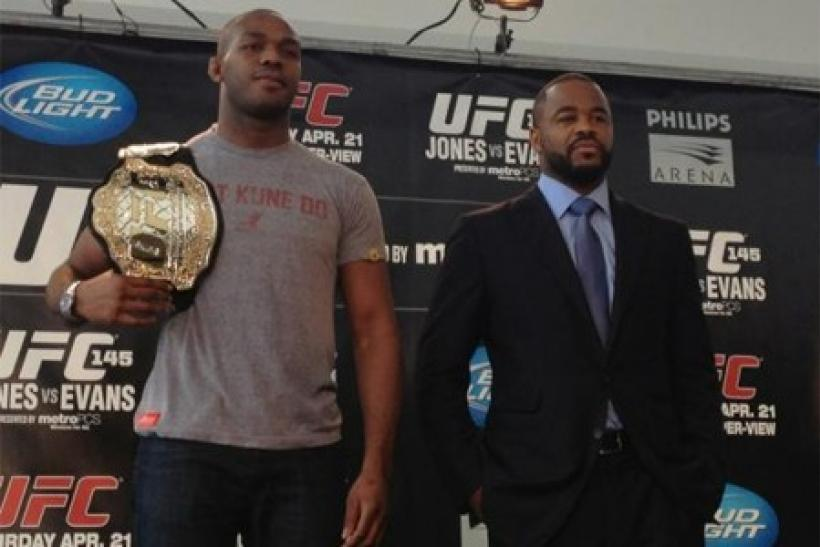 Jon Jones and Rashad Evans smile in this photo. But it will be less friendly on Saturday.