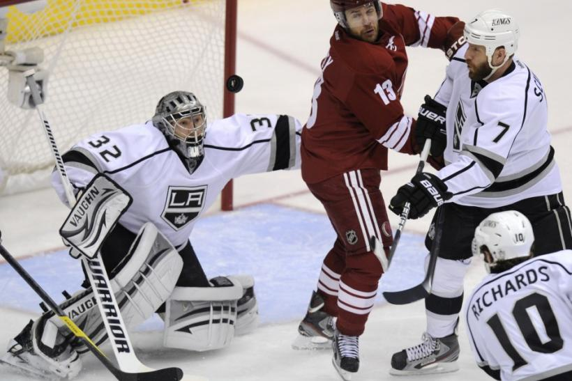 The Kings take on the Coyotes at 9:00 p.m. ET.